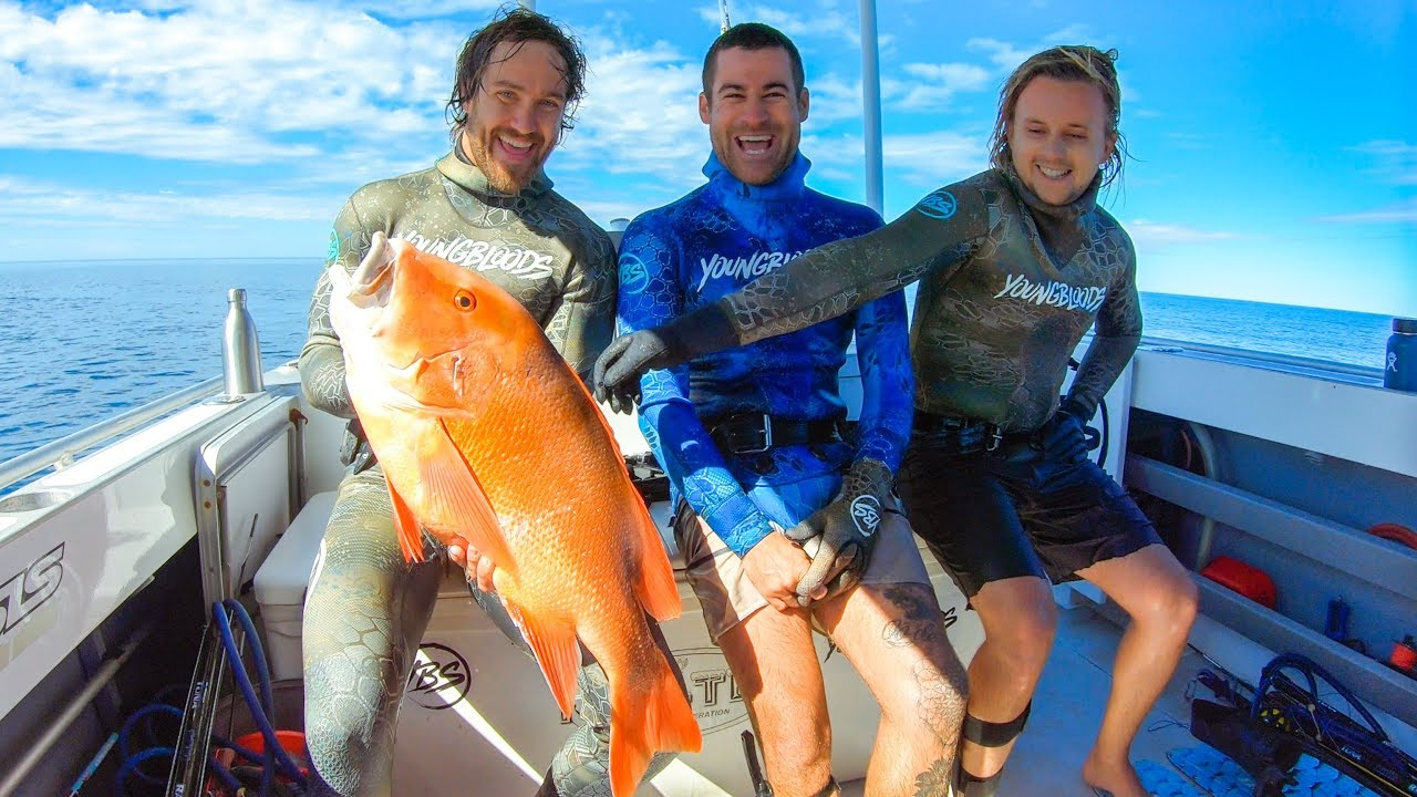CAMPING WITH THE BOYS Spearfishing Giant Reds And Amazing Weather (Part 2) - Ep 96