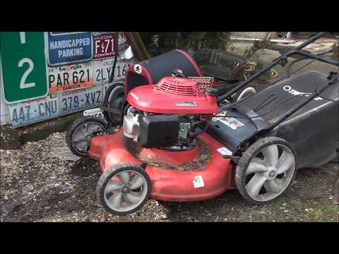 7 MINUTES! Engine Replacement on a JUNKYARD Lawnmower ~ HONDA GCV 160 engine, TROY-BILT mower