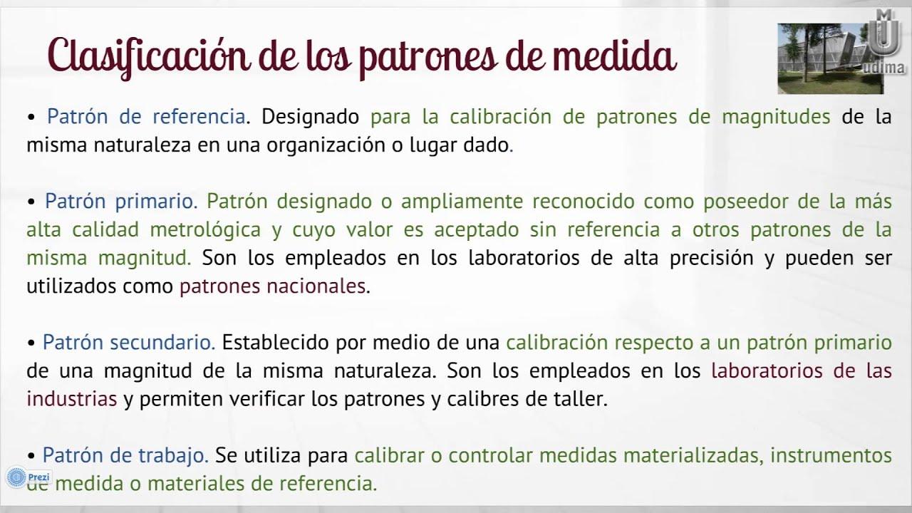 UNIDADES DE MEDIDA Y PATRONES - YouTube