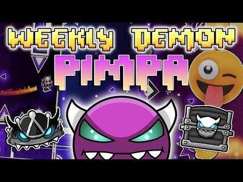 EMOJI BOSS FIGHT - (Weekly Demon #27) Geometry Dash 2.11 - Pimpa [3 Coins] - By G3ingo