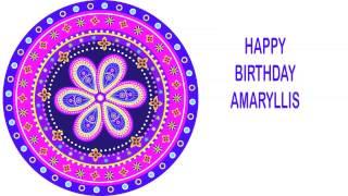 Amaryllis   Indian Designs - Happy Birthday