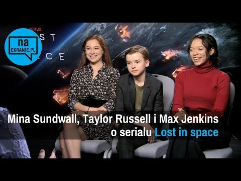 Mina Sundwall, Taylor Russell i Max Jenkins o Lost in Space