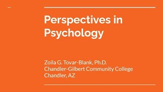 Perspectives in Psychology thumbnail