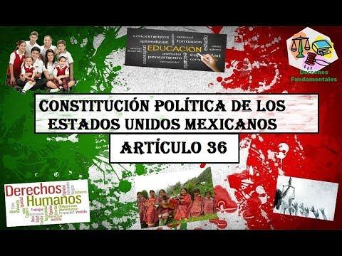 articulo 36 de solfa syllable constitución