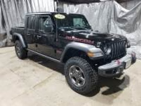 2020 Black Clear Coat Jeep Gladiator Rubicon 4x4 AJT6105 Motor Inn Auto Group