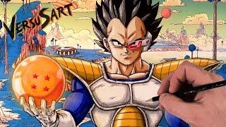 Drawing VEGETA on NAMEK   Dragon Ball Z