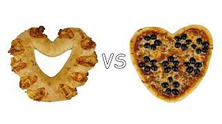 """Пицца """"Сердце"""". Два варианта"""