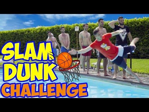 SLAM DUNK CHALLENGE IN PISCINA!! w/ IlluminatiCrew