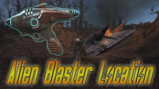 Fallout 4: How to Find Alien Blaster & Crashed Ship! (Easter Egg)