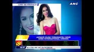 MANILA, Philippines -- Ikumi Yoshimatsu from Japan was crowned Miss...