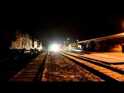 VIA 6445 train #87 arrives at Kitchener Station