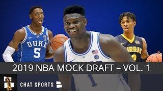 Zion Williamson Is #1 In 2019 NBA Mock Draft - RJ Barrett, Ja Morant, Cam Reddish In Top 5 (Vol. 1)