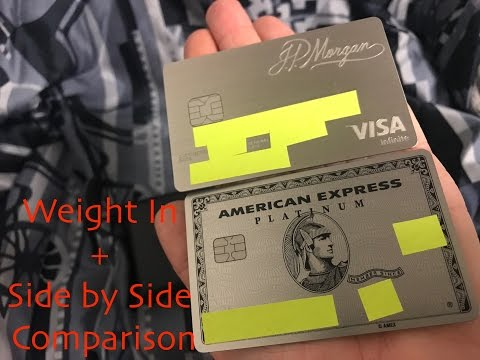 Weight In: American Express AMEX New Metal Platinum Card vs. JP Morgan Chase Palladium Reserve Card