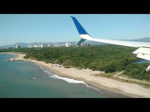 Boeing 737 MAX Landing At Puerto Vallarta Airport, Mexico