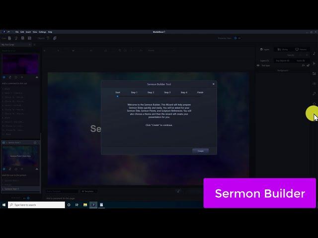 MediaShout 7 - Sermon Builder