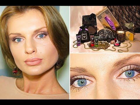 Макияж Вечерний - пастель.Техника Миндалевидные глаза (KatyaWORLD)