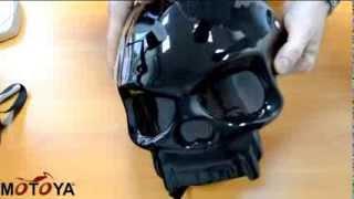 Обзор мотошлема-каски Masei 419  в виде черепа.
