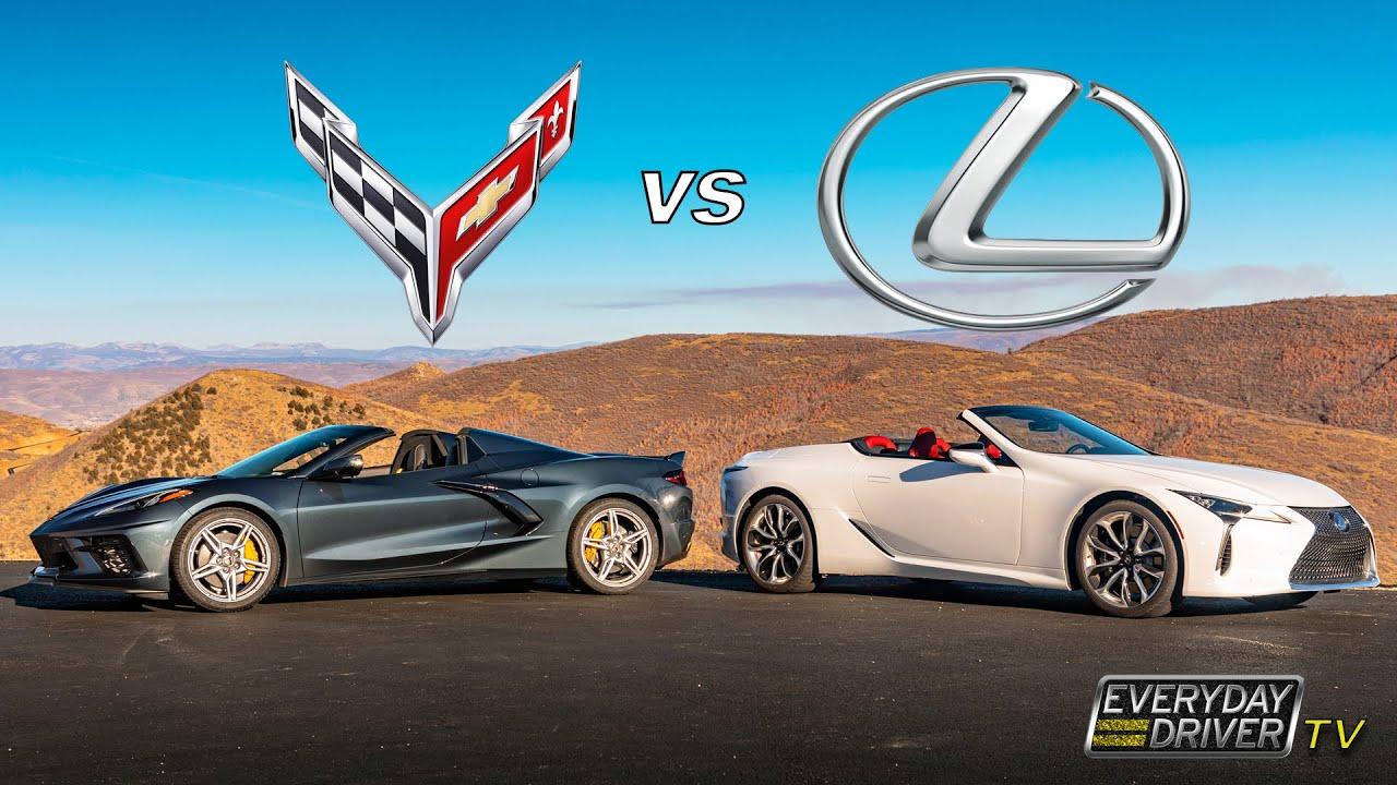 Download C8 Corvette vs Lexus LC 500 - Cars for Golf? - Everyday Driver Season 8