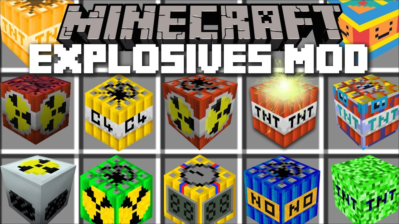 Minecraft EXPLOSIVES TNT MOD / BURN DOWN A CITY WITH YOUR TNT'S!! Minecraft