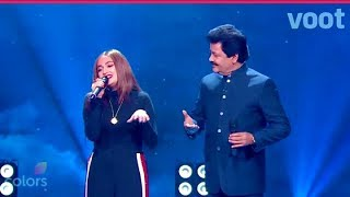 Rising Star season 2 | Chand Chupa badal Me | Monali Thakur With Udit Narayan
