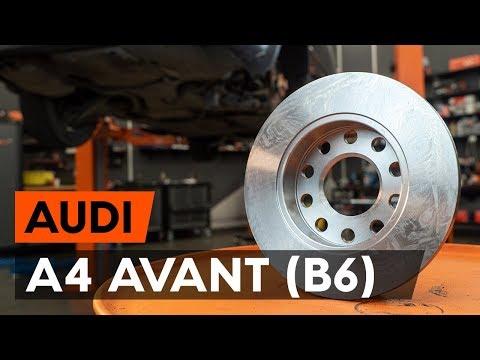 Как заменить задние тормозные диски наAUDI A4 B6 (8E5)[ВИДЕОУРОК AUTODOC]
