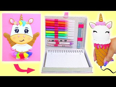 DIY UNICORN ORGANIZER, Pencil Case and Unicorn Pen