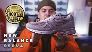 THE PERFECT SHOE! New Balance 990 V4 Grey/Castlerock Review