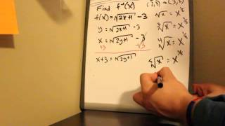 finding inverse of f x part 2 square roots