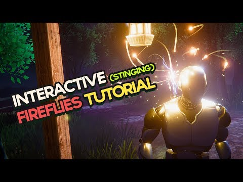 Unity VFX - Interactive Fireflies w/ Sound + Stinging (Particle System Tutorial)