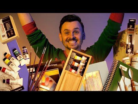 GIANT Box of Art Supplies - ft. James Gurney