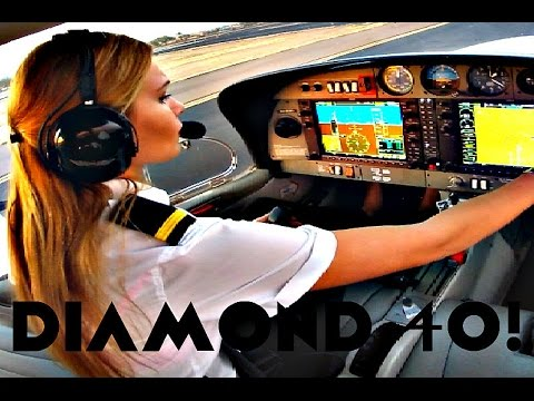 FIRST SOLO FLIGHT Diamond 40 Aircraft | Student PILOT