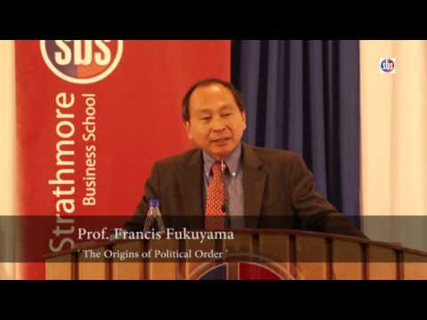 Lecture: The Origins Of Political Order By Prof Francis Fukuyama