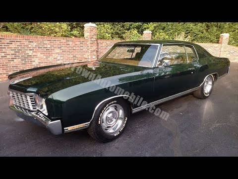 1972 Chevrolet Monte Carlo for sale Old Town Automobile in Maryland