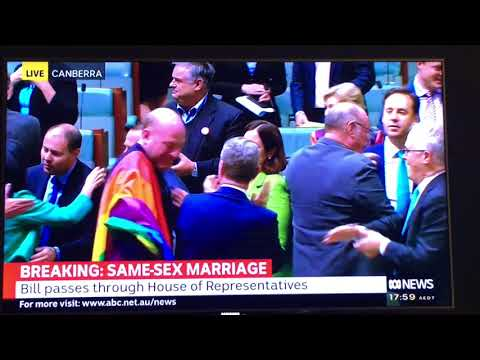 WORLD BREAKING NEWS: Australian parliament Officially Legalizes Same Sex Marriage