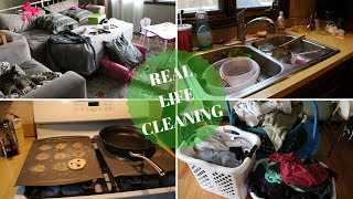 AFTER EASTER/AFTER BEING SICK CLEAN WITH ME! 🤢 REAL LIFE CLEANING 2018