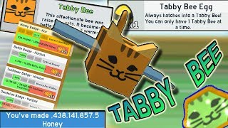 *NEW* BADGES!!! BUYING *TABBY* BEE!!! - Roblox Bee swarm simulator
