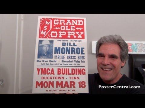 Bill Monroe & Blue Grass Boys Concert Posters 1950's - Eight Different