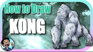 🎨 How to Draw King Kong