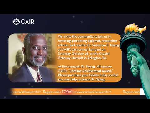 Video: CAIR to Honor Dr. Sulayman Nyang with 'Lifetime Achievement Award' at Annual Banquet