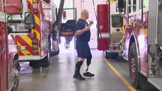 Wounded Bremerton veteran training to be a firefighter