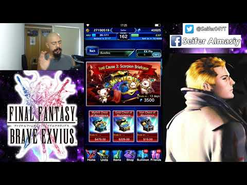Final Fantasy Brave Exvius - Just Cause 3 event - paquete de aniversario - FFBE - GL