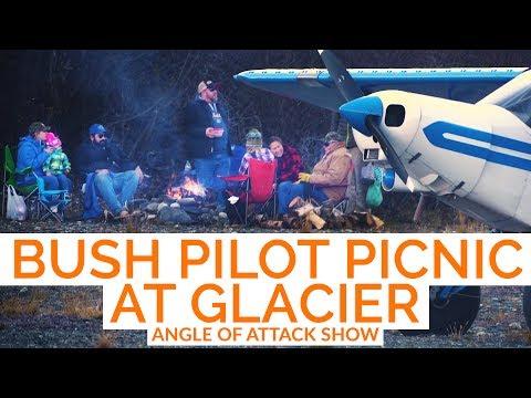 Knik Picnic bush pilot gathering at glacier -- Angle of Attack Show EP 4