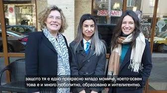 Посланик за един ден: Дария Руменова с посланика на Франция Флоранс Робин