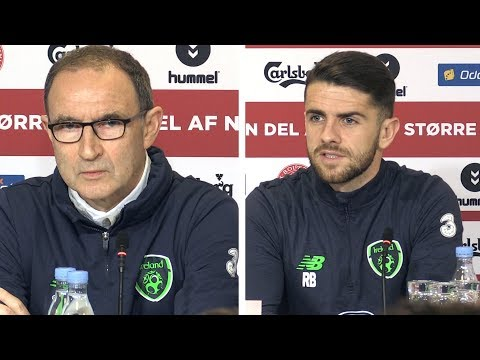 Martin O'Neill & Robbie Brady Full Press Conference - Denmark v Ireland - World Cup Qualifier