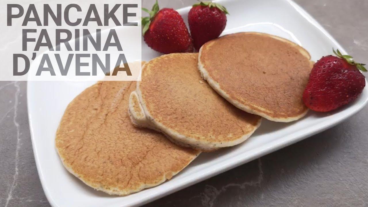 Ricetta Pancake Avena.Pancake Con Farina Di Avena Youtube