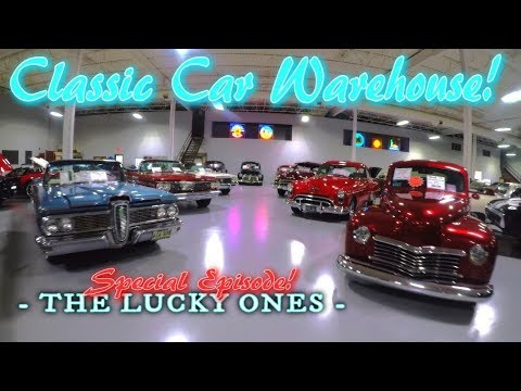 INCREDIBLE Classic Car Warehouse!!! - Classic Car DEALERSHIP!!! - The Lucky Ones!