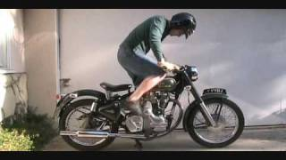 How To Kick Start A Royal Enfield Bullet 500 Classic Motorcycle With An Amal 930 Carb
