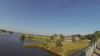 Blick auf die Weser und den Yachthafen von Achim