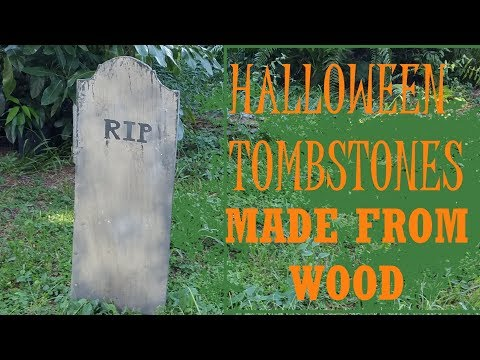 halloween tombstones  made from plywood easy to make