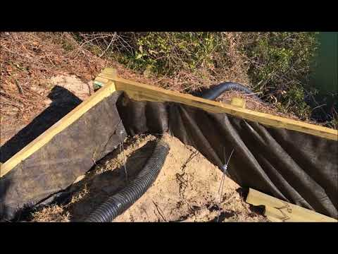 Wood Retaining Wall Installation